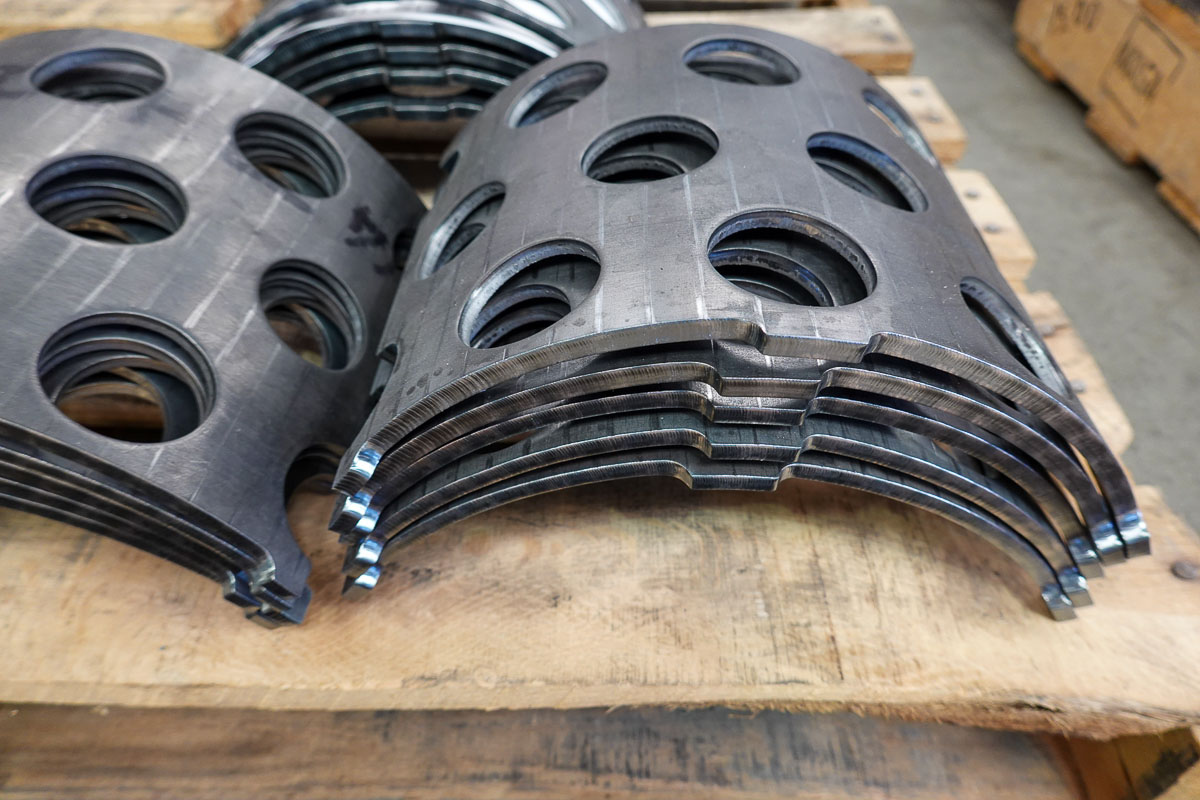 "1/4"" Carbon Steel Plate, Punched, Plasma Cut and Bump Formed in a Press Brake"