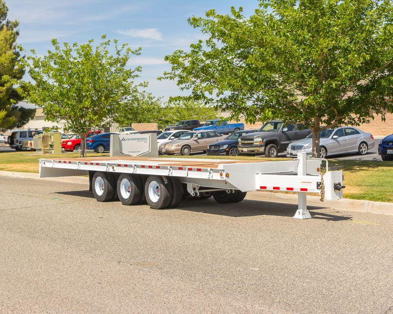 Flat Bed Working Deck Tandum Axle Tilting Heavy Duty Equipment Trailer Ertl