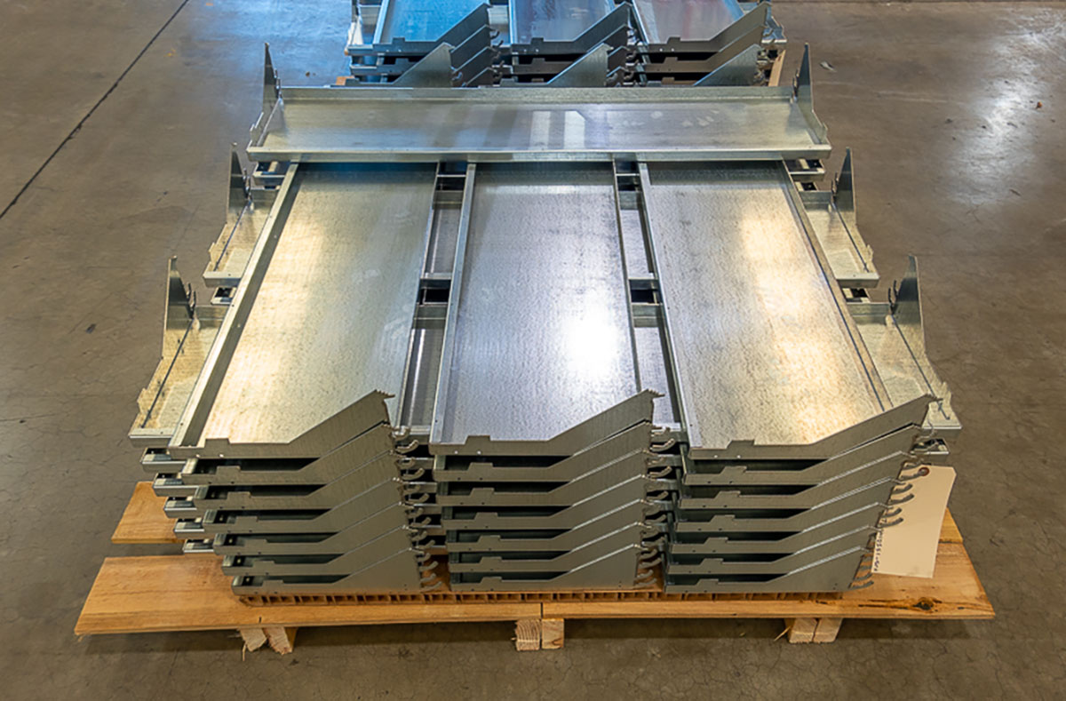 14 GA Galvanized Sheet Metal Shelf